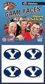 Brigham Young University BYU Cougars – Waterless Peel & Stick Temporary Spirit Tattoos – 4-Piece