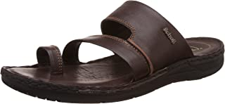 Scholl Men's Sam Toe Ring Brown Leather Hawaii Thong Sandals - 7 UK/India (41 EU)(8744915)