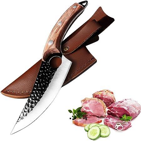Couteau de cuisine 10.7 pouces - Acier forgé de haute qualité fait main - Ultra tranchant - Couteau à désosser Butcher Cleaver Couteau de cuisine Couteau à viande Ergonomique en acier inoxydable