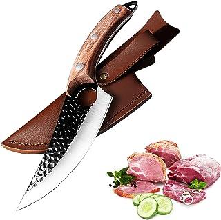 Couteau de cuisine 10.7 pouces - Acier forgé de haute qualité fait main - Ultra tranchant - Couteau à désosser Butcher Cle...