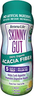 Renew Life Skinny Gut Organic Acacia Fiber Powder, 11.9 Ounce