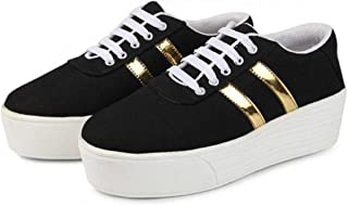 Shoefly Black-1044 Casual Sneakers Shoes for Women