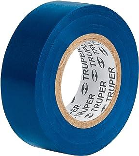 Truper M-33Z, Cinta de aislar, 18 m x 19 mm, azul