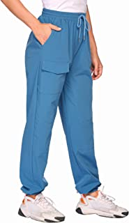 Chigant Women's Hiking Cargo Pants Quick Dry Lightweight Outdoor Water Resistant Camping Pants with Pockets