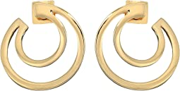 Polished Curved Hoop Earrings