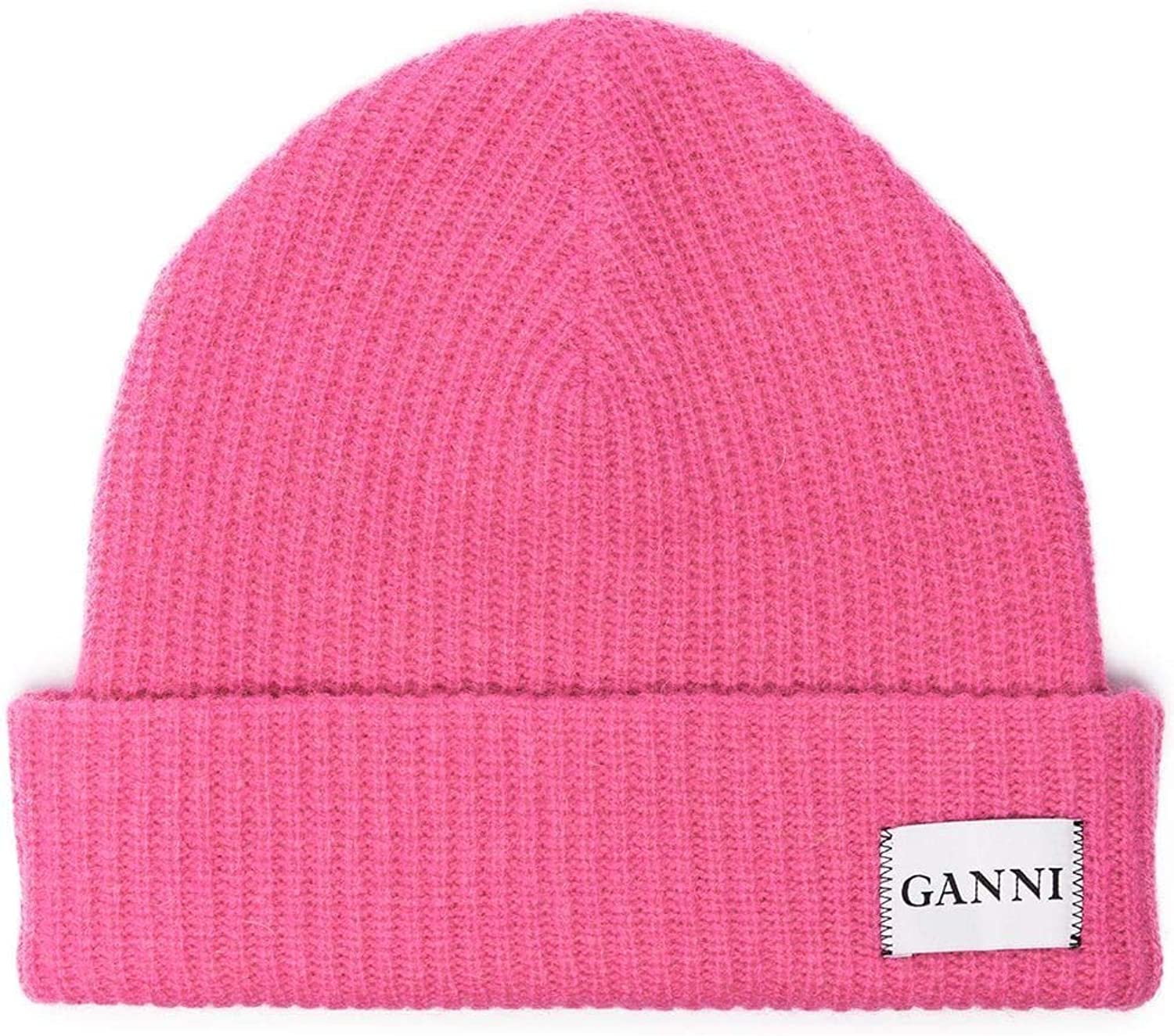 Ganni Women's A1630514 Fuchsia Wool Hat