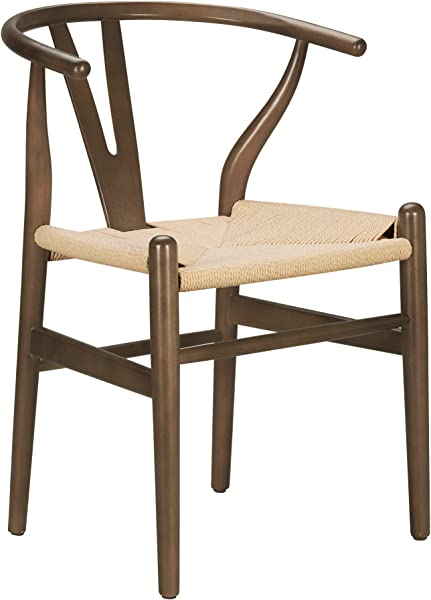 Poly And Bark Weave Chair In Walnut