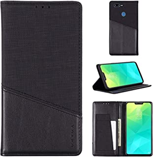 EUDTH Case for Realme 2, Full Body Protection Leather Case Flip Cards Slot Support Function Cover Shockproof Protective Ca...