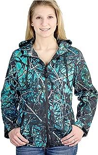 Camo JP Light Windbreaker Zipper Hoodie Jacket Turquoise Blue