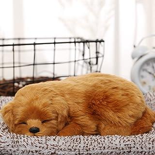 zhibao 本物そっくりに眠る犬のぬいぐるみ 活性炭 車 車内 空気 浄化 飾り 可愛い (わんこ5)...