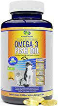 Omega 3 Fish Oil For Dogs and Cats - Wild Icelandic Pure, Odour Free Fish Oil Supplement with Vitamin E, 180 Softgels, 100...