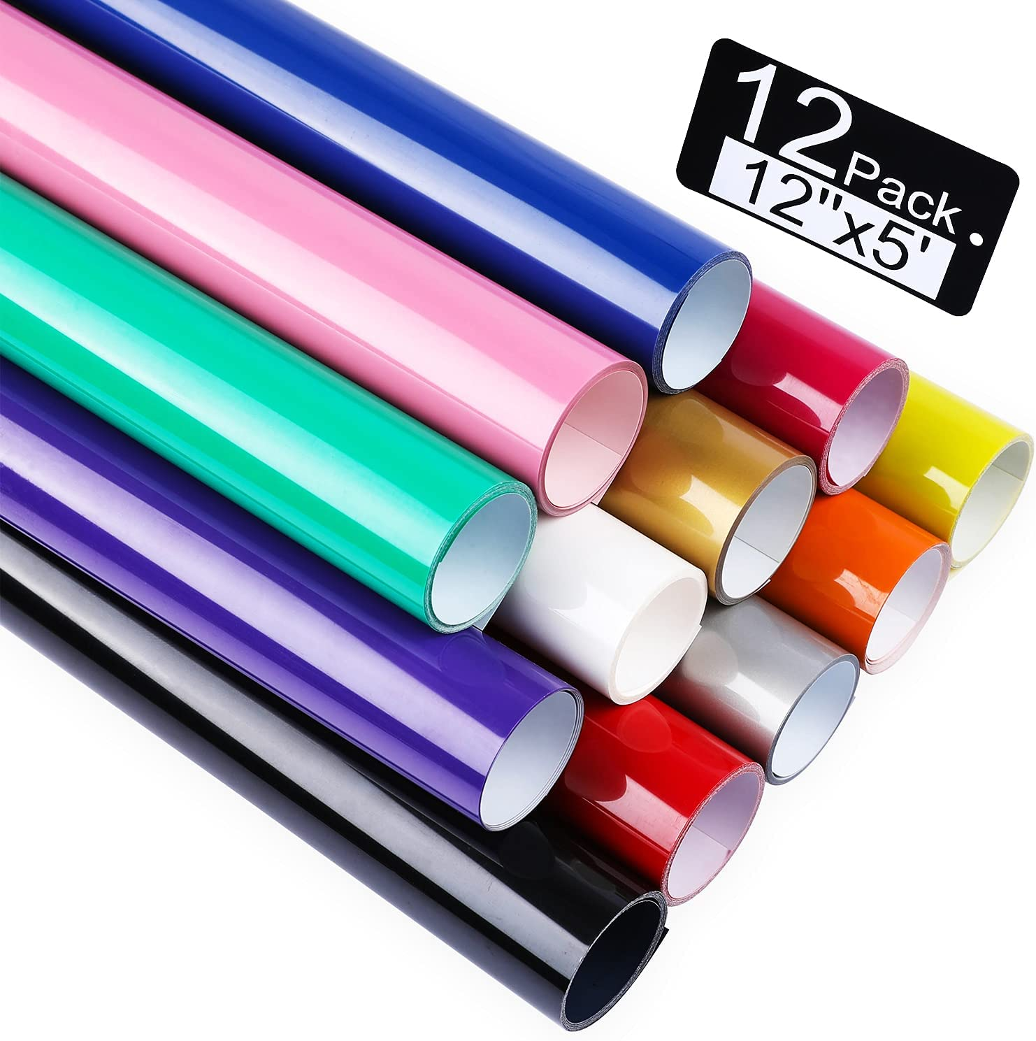 Heat Transfer Vinyl HTV for T-Shirts Direct sale of manufacturer 12 by Rolls Feet 5 Elegant Inches