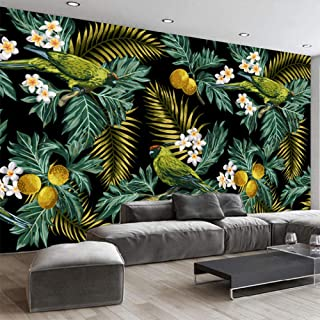 3D Mural Rainforest Parrot Coconut Leaf Wall Art Painting Pictures Print On Canvas Landscape for Home Modern Decoration Customize Size