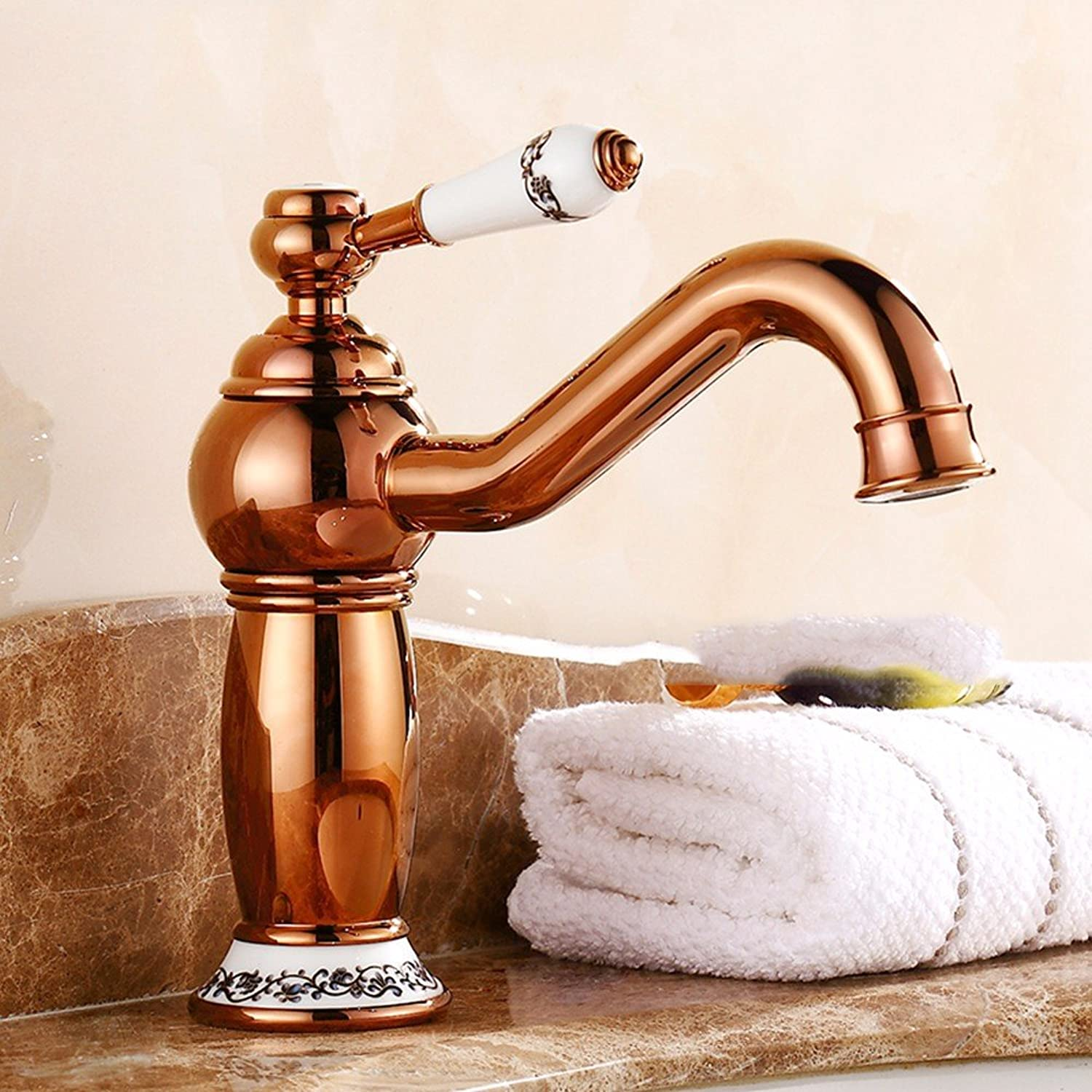 Hlluya Professional Sink Mixer Tap Kitchen Faucet Ceramic, hot and cold, the basin, plus high and sink Faucet 11