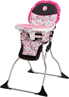 Disney Baby Minnie Mouse Simple Fold Plus High Chair with 3-Position Tray (Garden Delight)