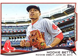 2014 Topps Update Baseball #US-301 Mookie Betts Rookie Debut Card - Near Mint to Mint