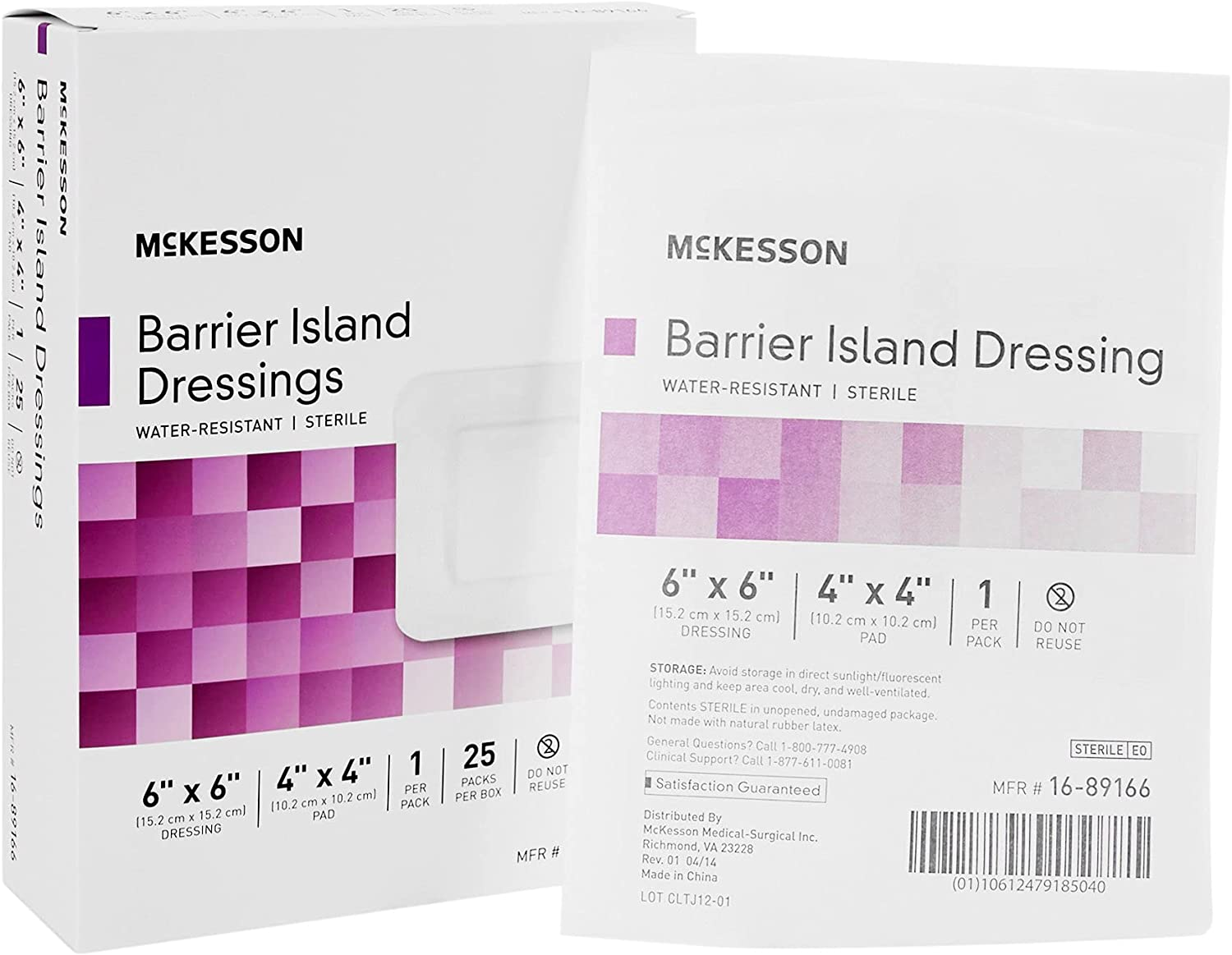 McKesson Sterile Composite Barrier Island excellence Square 4 Cheap mail order shopping Dressing 4