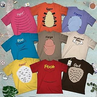Winnie And Friends Pooh-Owl-Piglet-Tigger-Roo-Kanga-Rabbit Costume Haloween Group Squad Team Matching Customized Handmade Hoodie/Sweater/Long Sleeve/Tank Top/Premium T-shirt
