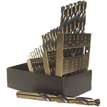 Black /& Gold 12Pcs Jobber Length Wire Diameter Drill Bits HD Black /& Gold High Speed Steel Jobber Length Kodiak USA Made #17 Wire Diameter Drill