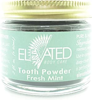 Taylor's Tooth Powder Natural with Xylitol & Activated Charcoal * Mint * Herbal Organic Vegan Paleo Plastic Free Stored in...