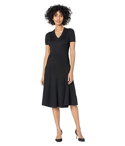 LAUREN Ralph Lauren Short Sleeve Ribbed Dress