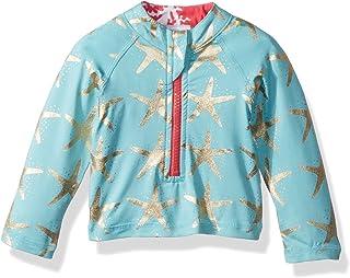 Masala Baby Girls Baby Rashguard Long Sleeves Starfish Turquoise