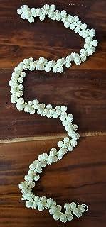 Brahma Crafts Plastic Artificial Jasmine Buds Garland(75 Cm Length, Cream)