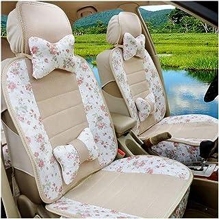 JKHOIUH Protector de cinturón de seguridad universal general de cinco asientos: el mejor protector antideslizante de asientos de automóvil de lino: perfecto for las cubiertas de asiento de automóvil E