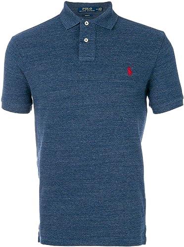 Ralph Lauren Homme 710548797012 Bleu Coton Polo