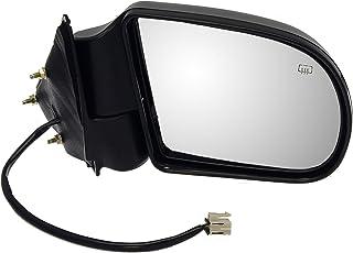 Dorman 955-073 Passenger Side Power Door Mirror - Heated / Folding for Select Chevrolet / GMC Models, Black