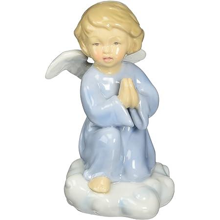 Cosmos 10424 Fine Porcelain Praying Angel Figurine, 4-1/4-Inch, Blue
