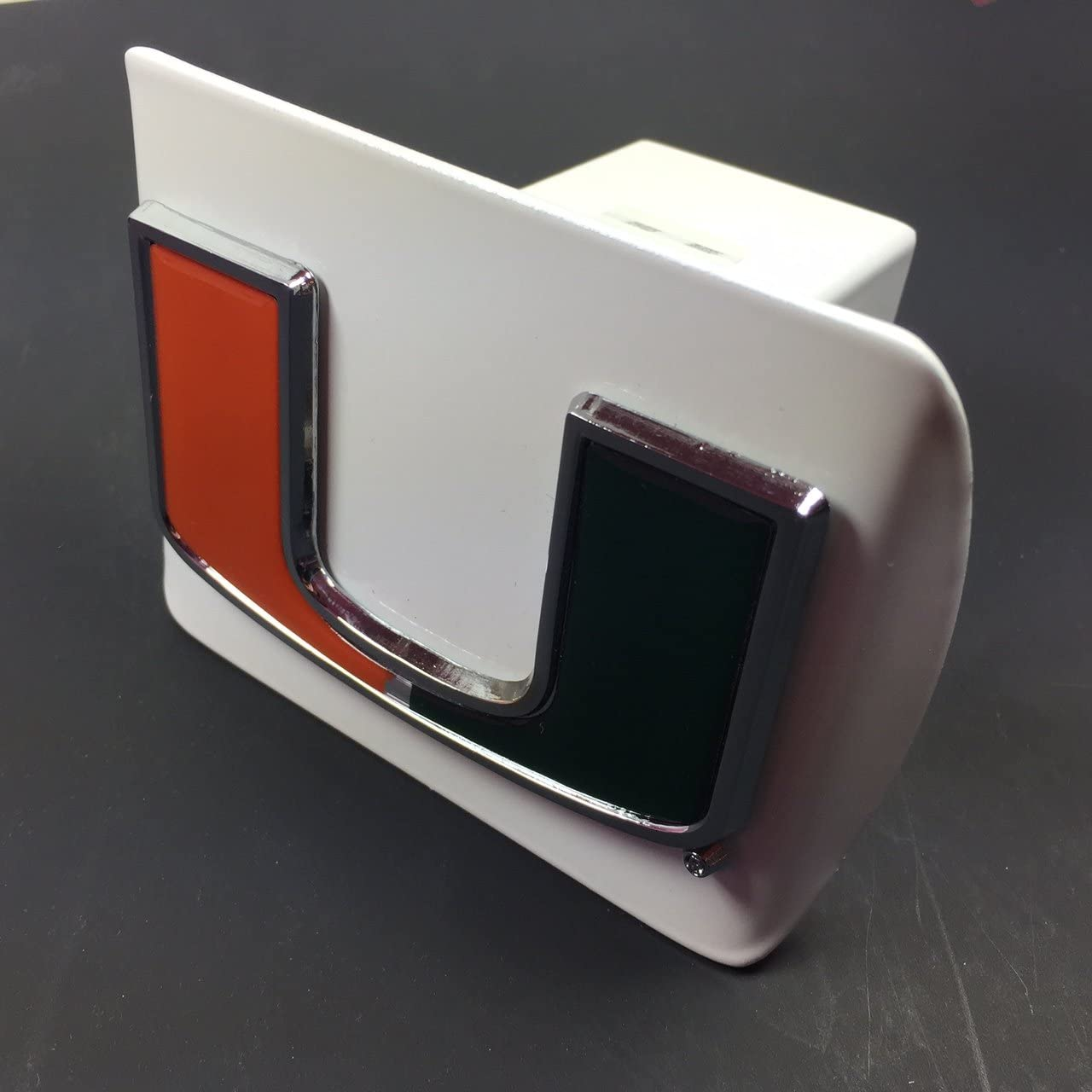 Tennessee AMG NCAA University Collegiate White Metal Hitch Cover for 2 inch Receiver