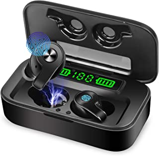 Innoo Tech Wireless Earbuds Bluetooth 5.0 Headphones, Hi-Fi Stereo Sound, IPX5 Waterproof Earphones for Sports, 2600mAh Ch...