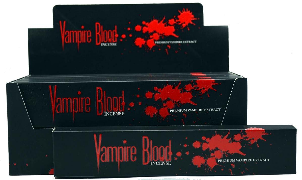 セメントプレミア鉛Nandita Vampire Blood Incense Sticks Agarbathi?–?15?Gボックス ブラウン