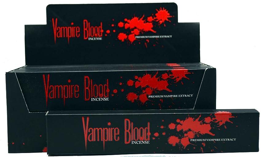 速報爆発するランチョンNandita Vampire Blood Incense Sticks Agarbathi?–?15?Gボックス ブラウン