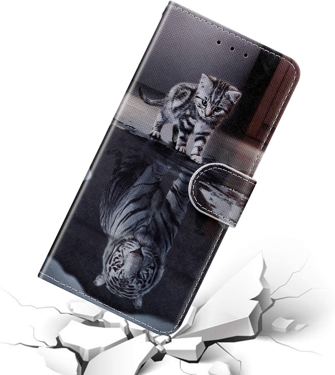 Surakey Cover per iPhone 11 Pro,Custodia Flip a Libro Portafoglio in PU Pelle Pieghevole Magnetica Wallet Case con Porta Carte Funzione Stand per iPhone 11 Pro,Rose