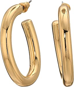 Open Hoop Post Earrings
