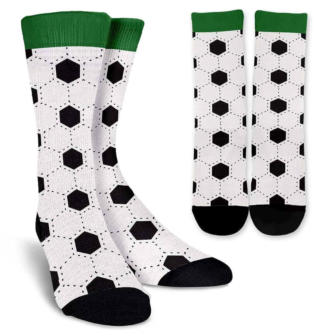 Funny Soccer Unisex Colorful Designs Trouser Socks Soccer Themed Gifts for Men Women Girls Boys Players Coaches Teachers Sport Lovers vcgysfgbqhm011