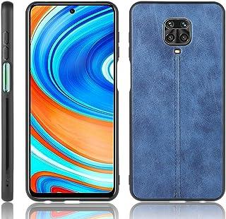 Wuzixi Case for Xiaomi Redmi Note 9 Pro Max,matte non-slip, scratch-resistant and fingerprint-resistant PU leather hand-st...
