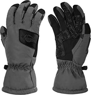Palmyth Waterproof Ice Fishing Winter Gloves Warm for Cold Weather Men and Women 3M Thinsulate Windproof Insulated Thermal for Ski, Shovel Snow, Snowboard, Snowmobile, Touch Screen