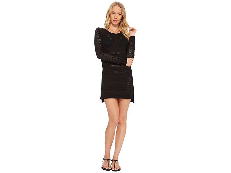 Tommy Bahama Textured Pullover Sweater Cover-Up (Black) Women