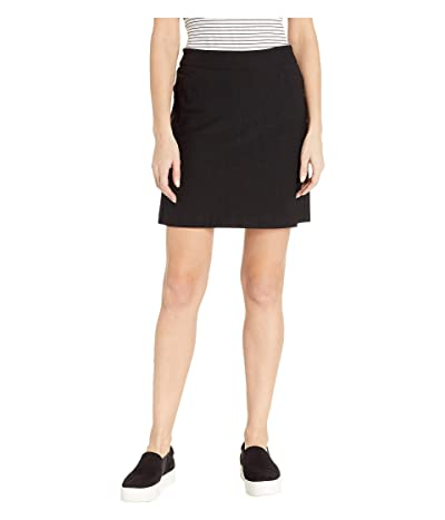 Tribal Stretch Bengaline Pull-On Skort (Black) Women