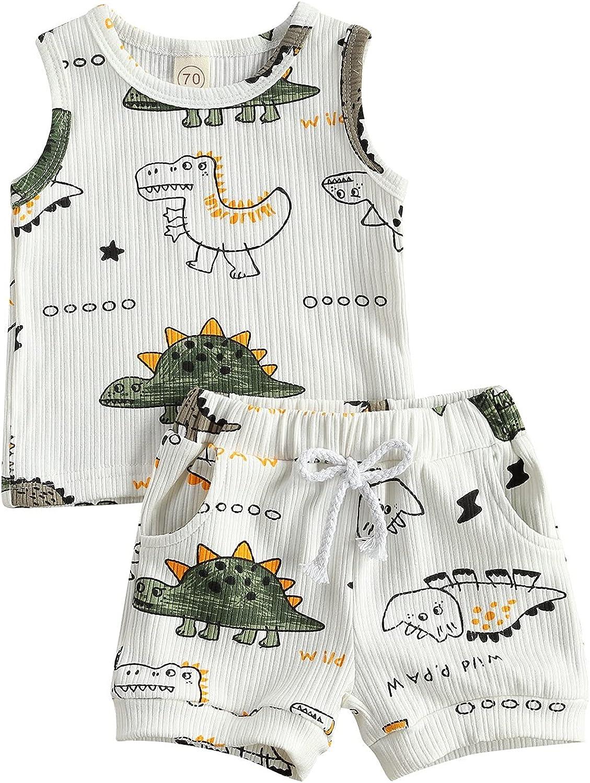 MoZiKQin Ranking TOP8 Infant Newborn Baby Boy Shorts Dinosaur Summer Max 61% OFF Clothes