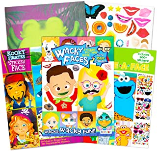 Make a Face Sticker Books for Kids Toddlers -- Set of 3 Jumbo Books with Over 90 Faces and 750 Stickers (Sticker Face Acti...