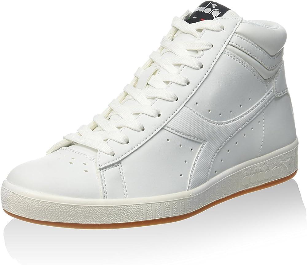 Diadora game p high scarpe sneakers sportive da uomo in pelle sintetica 101.160277A