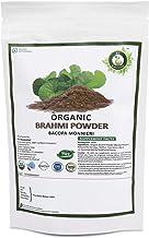 R V Essential Organic Brahmi Powder 200gm/ 7.05oz/ 0.44lb- Bacopa Monnieri Brahmi Leaf Powder For Hair USDA Organic Certified Ayurvedic Herbal Supplement in Resealable and Reusable Zip Lock Pouch