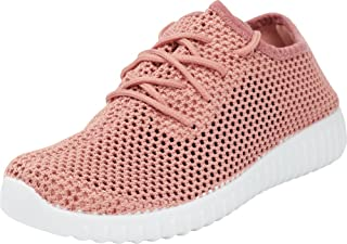 Cambridge Select Women's Breathable Lightweight Low Top Mesh Lace-Up Casual Sport Fashion Sneaker