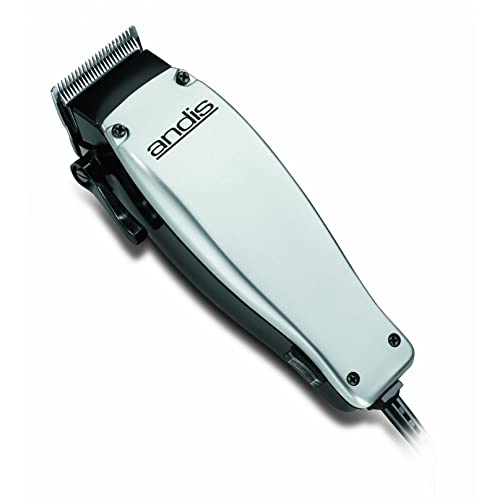 Andis EasyCut Hair Clipper 10-Piece Kit, Silver/Black, Model MC-