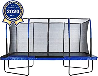 Upper Bounce Gymnastics Style, Rectangular Trampoline Set with Premium Top-Ring Enclosure System