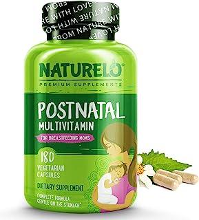 NATURELO Post Natal Multivitamin - Whole Food Postnatal Supplement for Breastfeeding Women - Organic Herbs to Boost Milk S...